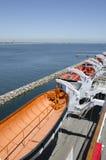 Bateaux de sauvetage chez Queen Mary Image stock