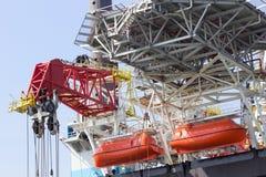 Bateaux de sauvetage de plate-forme pétrolière Image libre de droits