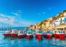 Bateaux de taxi de mer Image stock