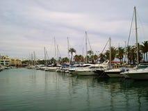 Bateaux de vue de marina de Puerto Photographie stock libre de droits