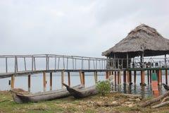 Bateaux des Indiens Photo libre de droits