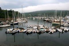 Bateaux du nord-est de port Photos libres de droits