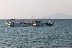 Bateaux du Timor oriental Photos libres de droits