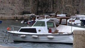 Bateaux Dubrovnik banque de vidéos