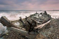 Bateaux en bois jetés Photographie stock libre de droits