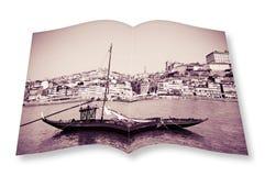 Bateaux en bois portugais typiques, en portugais appelé Image stock
