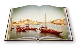 Bateaux en bois portugais typiques, en portugais appelé Images libres de droits