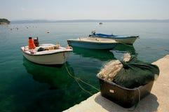 Bateaux en Croatie Photos stock