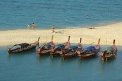 Bateaux en mer d'Andaman Images stock