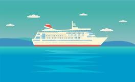 Bateaux en mer, bateaux de expédition Photo libre de droits