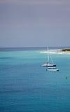 Bateaux en mer des Caraïbes Images stock