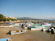 Bateaux en Punta Mita Nayarit, Mexique image libre de droits