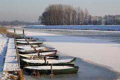 Bateaux dans l'Oude IJssel Photos libres de droits