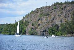 Bateaux en Suède image stock