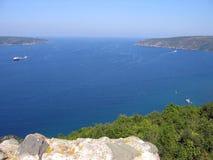 Bateaux entrant dans la Mer Noire Photo libre de droits