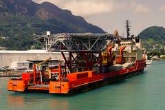 Bateaux et bateaux sur les Seychelles tropicales Photos stock