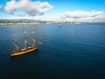 Bateaux grands Dublin Riverfest 2017 l'irlande Images libres de droits