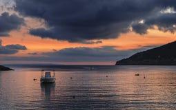 bateaux isolés Images libres de droits