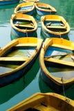 Bateaux jaunes Image libre de droits
