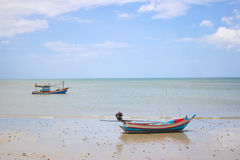 2 bateaux la même couleur Photo stock