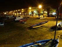 Bateaux la nuit Photo libre de droits