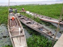 Bateaux lac dans Songkhla ', Thaïlande Photo libre de droits