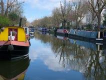 Bateaux-maison de canal Peu de Venise Londres photos stock