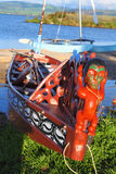 Bateaux maoris Photo libre de droits
