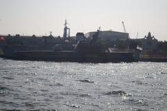 Bateaux militaires Photo libre de droits