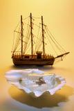 Bateaux miniatures Images libres de droits