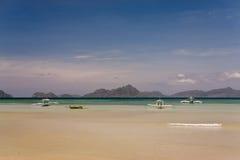 Bateaux philippins de pêcheurs Image libre de droits