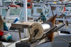 Bateaux professionnels de pêcheur d'Îles Baléares photos libres de droits