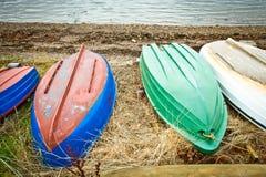 Bateaux retournés Photo libre de droits