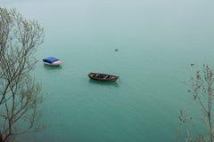 Bateaux sur l'eau Image libre de droits