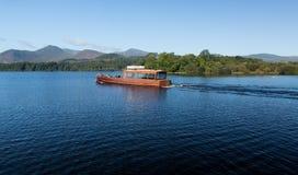 Bateaux sur l'eau de Derwent dans le district de lac Photo stock