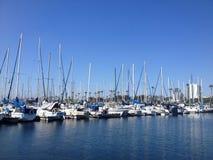 Bateaux sur la marina de Long Beach Image libre de droits