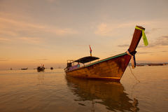 Bateaux sur la mer Photos stock