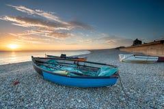 Bateaux sur la plage à Portland Photographie stock libre de droits