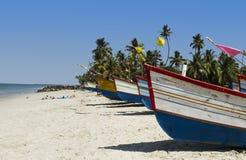 Bateaux sur la plage Photographie stock