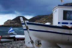 Bateaux sur la plage dans Cabo De Gata, Almeria Photos libres de droits