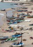 Bateaux sur la plage Hammamet Photos libres de droits