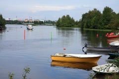 Bateaux sur le lac Image stock