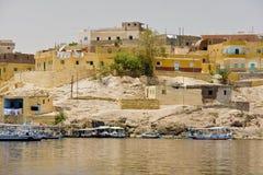 Bateaux sur le lac Nasser Images stock