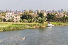 Bateaux sur le Nil au Caire photos stock