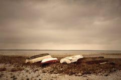 Bateaux sur le rivage Photo libre de droits