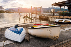 Bateaux sur le rivage Image stock