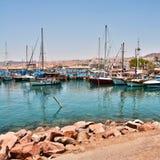 Bateaux sur le rivage de la Mer Rouge Image libre de droits