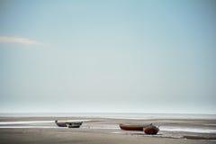 Bateaux sur les sables du ¡ de cearà image libre de droits