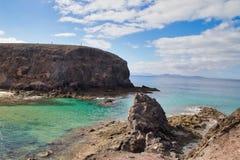 Bateaux sur Marina de Lanzarote photographie stock libre de droits