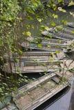 Bateaux sur un fleuve Images libres de droits